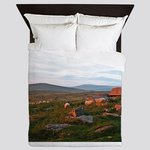 Sunset Rocks and Sheep Queen Duvet