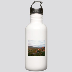 Sunset Rocks and Sheep Water Bottle