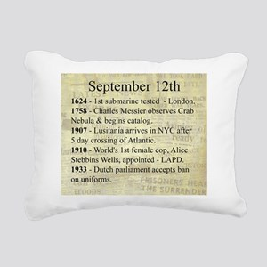 September 12th Rectangular Canvas Pillow