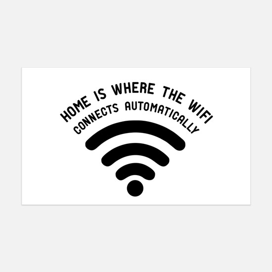 Home is where the wifi Wall Decal