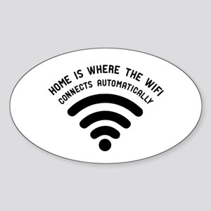 Home is where the wifi Sticker (Oval)