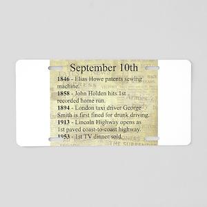 September 10th Aluminum License Plate