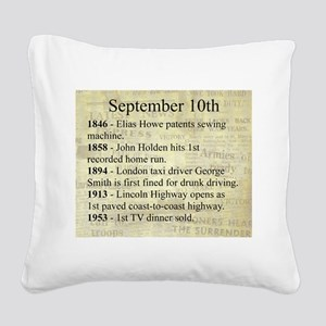 September 10th Square Canvas Pillow