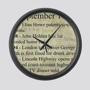 September 10th Large Wall Clock