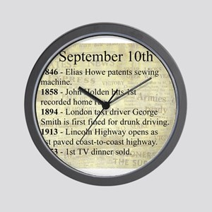 September 10th Wall Clock