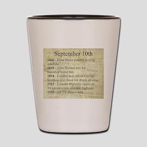 September 10th Shot Glass