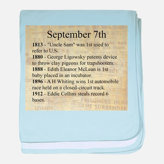 September 7th baby blanket