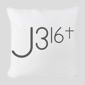 J316Typo Woven Throw Pillow
