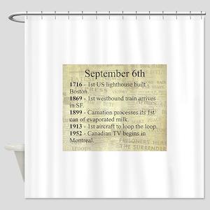 September 6th Shower Curtain