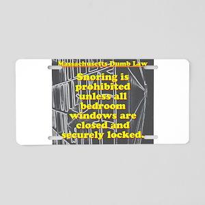 Massachusetts Dumb Law #6 Aluminum License Plate