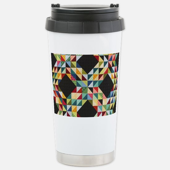 Quilt Patchwork Stainless Steel Travel Mug