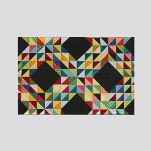 Quilt Patchwork Rectangle Magnet
