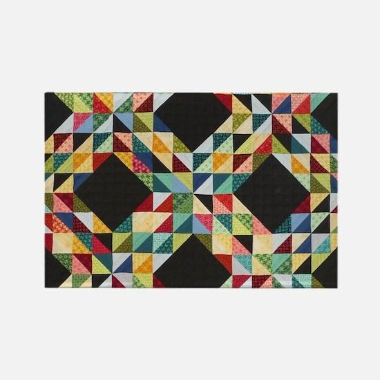 Quilt Patchwork Rectangle Magnet