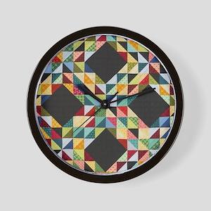 Quilt Patchwork Wall Clock
