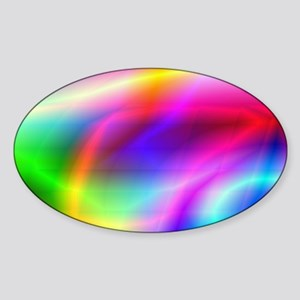 Colorful Style Sticker (Oval)