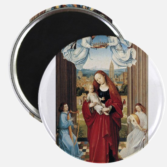 15th Centruy - Virgin and Child With Angels Magnet
