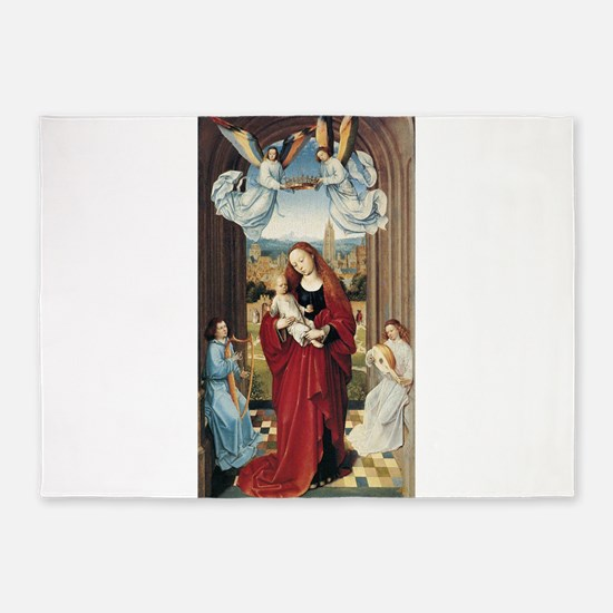 15th Centruy - Virgin and Child With Angels 5'x7'A