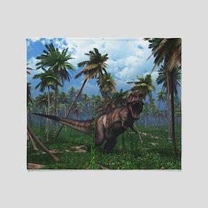 Tyrannosaurus 3 Throw Blanket