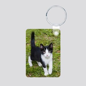 Sweet Cat Aluminum Photo Keychain