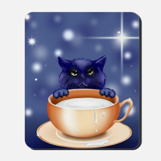 Blue Fantasy Cat Mousepad
