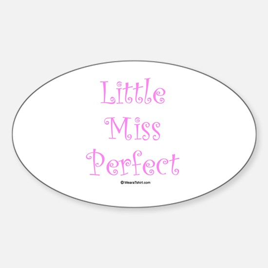 Little Miss Perfect Oval Decal