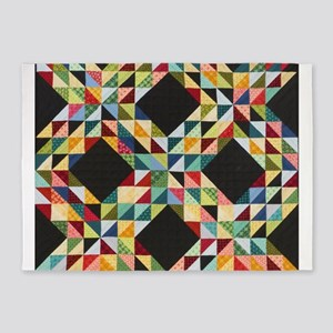 Quilt Patchwork 5'x7'Area Rug