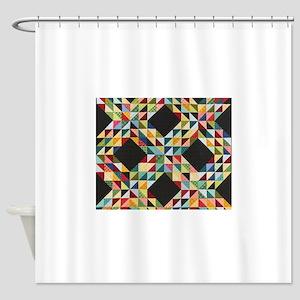 Quilt Patchwork Shower Curtain