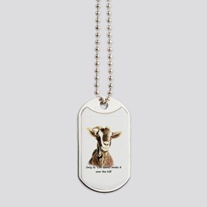 Over The Hill Old Goat Humor Quote Dog Tags