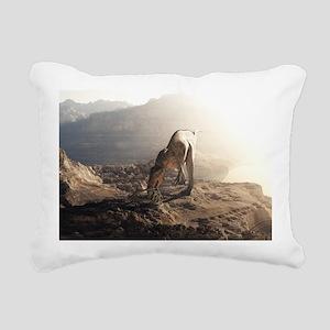 Acrocanthosaurus 2 Rectangular Canvas Pillow