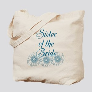 Blue Sister of the Bride Tote Bag