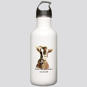Over the Hill Old Goat Humor Quote Water Bottle