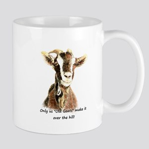Over the Hill Old Goat Humor Quote Mugs