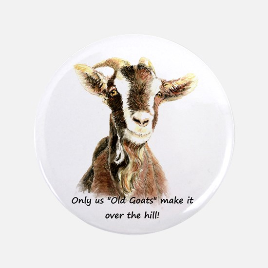 "Over The Hill Old Goat 3.5"" Button (100 Pack)"