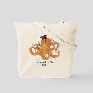 Graduation Octopus Tote Bag
