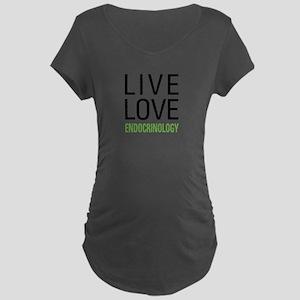 Live Love Endocrinology Maternity Dark T-Shirt