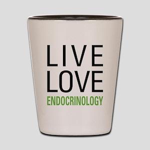 Live Love Endocrinology Shot Glass