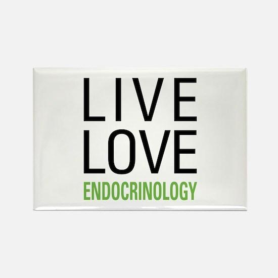 Live Love Endocrinology Rectangle Magnet