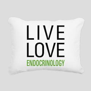 Live Love Endocrinology Rectangular Canvas Pillow