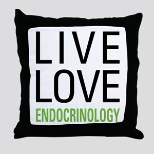 Live Love Endocrinology Throw Pillow