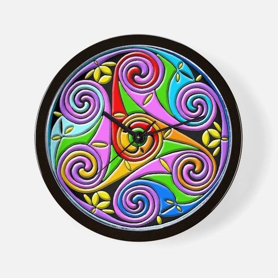 Celtic Spirals Wall Clock