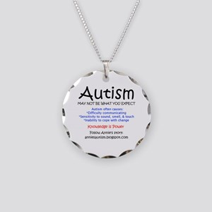 Autism - May not expect Necklace Circle Charm