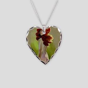 Lady Godiva Necklace Heart Charm