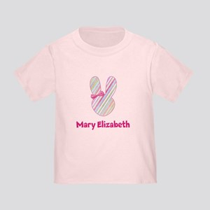Easter Bunny with Pink Bow Toddler T-Shirt