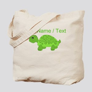 Custom Green Turtle Tote Bag