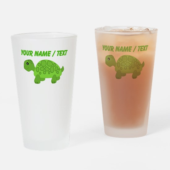 Custom Green Turtle Drinking Glass