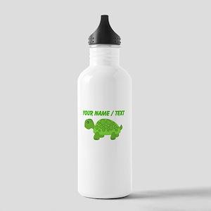 Custom Green Turtle Sports Water Bottle