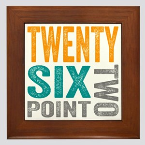 Twenty Six Point Two Marathon Motivati Framed Tile
