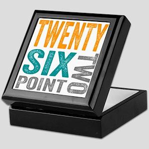 Twenty Six Point Two Marathon Motivat Keepsake Box