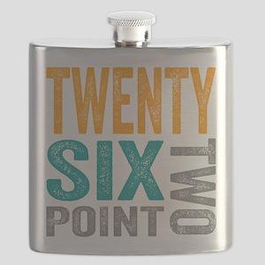 Twenty Six Point Two Marathon Motivation Flask