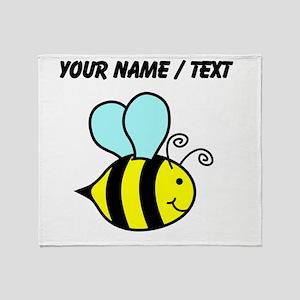 Custom Cartoon Bee Throw Blanket